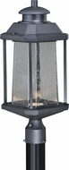 Vaxcel T0312 Freeport Modern Textured Black LED Exterior Lamp Post Light