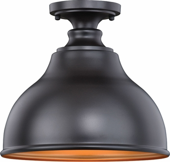 Vaxcel T0315 Delano Outer Oil Burnished Bronze with Inner Light Gold Outdoor Ceiling Light