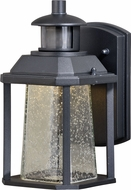 Vaxcel T0321 Freeport Dualux Modern Textured Black LED Exterior Motion Sensor w/ Photocell Light Sconce