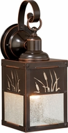 Vaxcel T0324 Bulrush Burnished Bronze Outdoor Wall Sconce Lighting