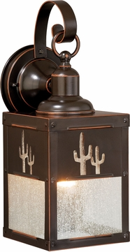 Vaxcel T0325 Calexico Burnished Bronze Exterior Wall Light Fixture