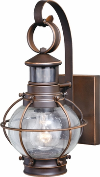 Vaxcel T0326 Chatham Modern Burnished Bronze Exterior Motion Detector Wall Lamp
