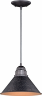 Vaxcel T0349 Outland Contemporary Outer Aged Iron with Inner Light Gold Outdoor Pendant Lighting