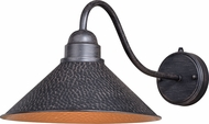 Vaxcel T0351 Outland Contemporary Outer Aged Iron with Inner Light Gold Outdoor Lighting Wall Sconce