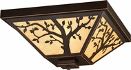 Vaxcel T0356 Alberta Craftsman Burnished Bronze Exterior Ceiling Light Fixture
