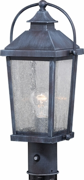 Vaxcel T0379 Lexington Traditional Colonial Gray Exterior Post Light