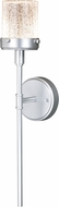 Vaxcel T0392 Levanto Modern Painted Satin Nickel LED Outdoor 4 Wall Sconce Light