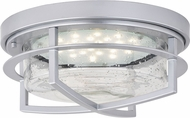 Vaxcel T0421 Logan Contemporary Painted Satin Nickel L.E.D. Outdoor Ceiling Lighting Fixture