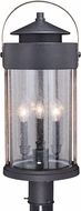 Vaxcel T0449 Cumberland Vintage Textured Dark Bronze and Burnished Oak Outdoor Post Lamp