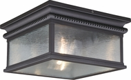 Vaxcel T0472 Cambridge Traditional Oil Rubbed Bronze Outdoor Flush Mount Ceiling Light Fixture