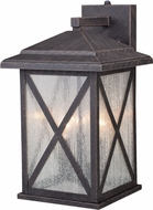Vaxcel T0479 Maxwell Traditional Rust Iron Exterior 9 Lighting Sconce