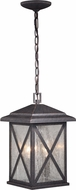 Vaxcel T0480 Maxwell Traditional Rust Iron Outdoor Drop Ceiling Light Fixture