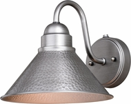 Vaxcel T0490 Outland Contemporary Brushed Pewter Outdoor Wall Mounted Lamp