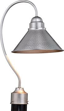 Vaxcel T0492 Outland Contemporary Brushed Pewter Outdoor Post Lighting Fixture