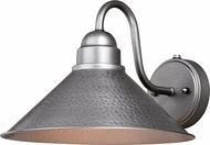 Vaxcel T0494 Outland Contemporary Brushed Pewter Outdoor Wall Lighting Fixture