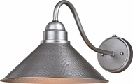 Vaxcel T0495 Outland Modern Brushed Pewter Exterior Wall Light Sconce