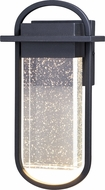 Vaxcel T0496 South Loop Contemporary Textured Black LED Outdoor Wall Sconce Light