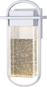Vaxcel T0497 South Loop Modern Painted Silver LED Exterior Wall Sconce