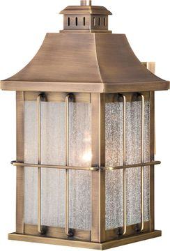 Vaxcel T0502 Quincy Traditional Antique Brass Outdoor Wall Lamp