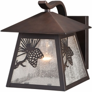 Vaxcel T0512 Whitebark Mission Warm Bronze Exterior 7 Wall Sconce