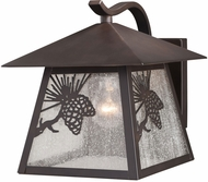 Vaxcel T0513 Whitebark Craftsman Warm Bronze Outdoor 9  Wall Lamp