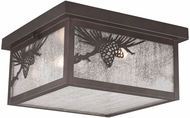Vaxcel T0516 Whitebark Mission Warm Bronze Exterior Flush Lighting