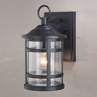 Vaxcel T0523 Southport Matte Black Outdoor Light Sconce