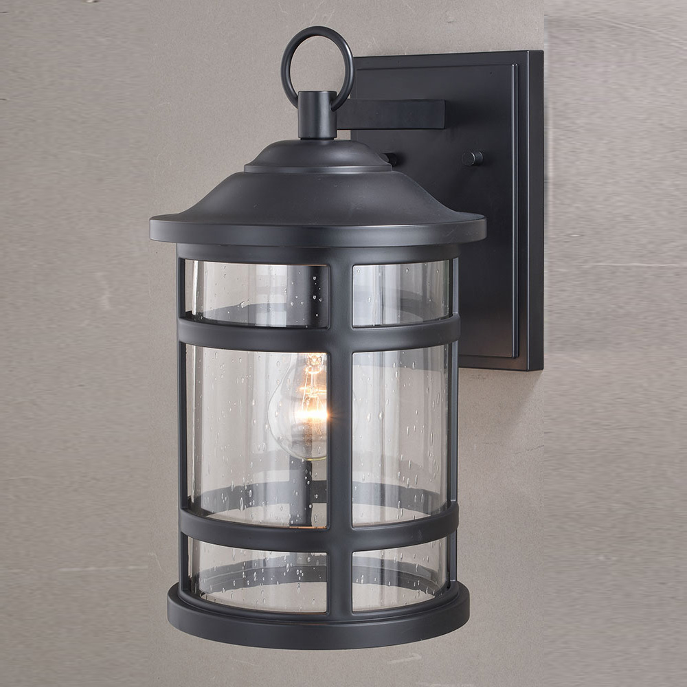 Vaxcel T0524 Southport Matte Black Outdoor Lighting Sconce