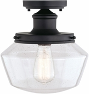 Vaxcel T0546 Collins Matte Black Exterior Overhead Lighting