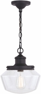 Vaxcel T0547 Collins Matte Black Outdoor Mini Drop Ceiling Lighting