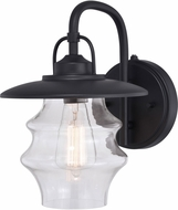 Vaxcel T0549 Glenn Textured Black Outdoor 9  Wall Lighting Sconce