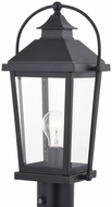 Vaxcel T0550 Lexington Textured Black Exterior Post Lamp