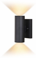 Vaxcel T0551 Chiasso Modern Textured Black LED Outdoor 8  Wall Sconce Lighting