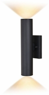 Vaxcel T0552 Chiasso Modern Textured Black LED Exterior 14  Wall Mounted Lamp