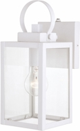 Vaxcel T0553 Medinah Textured White Outdoor 5  Wall Light Sconce