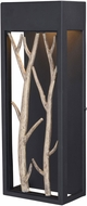 Vaxcel T0561 Ocala Modern Textured Black and Poplar LED Outdoor Wall Light Sconce