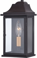 Vaxcel T0564 Bristol Traditional Oil Burnished Bronze and Light Gold Exterior Wall Lamp