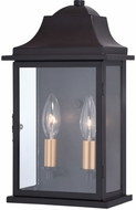 Vaxcel T0565 Bristol Traditional Oil Burnished Bronze and Light Gold Outdoor Wall Lighting