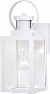 Vaxcel T0568 Medinah Textured White Motion Sensor Exterior Lighting Sconce