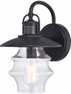 Vaxcel T0569 Glenn Textured Black Motion Sensor Outdoor 9  Lamp Sconce