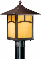 Vaxcel TL-OPU090EB Taliesin Craftsman Espresso Bronze Finish 14.25  Tall Exterior Post Light