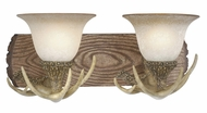 Vaxcel VL33022NS Lodge Country Noachian Stone Finish 10.75  Wide 2-Light Vanity Light Fixture