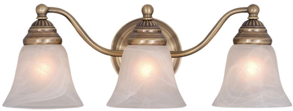 Vaxcel Vl35123a Standford Antique Brass 3 Light Bathroom Lighting Fixture Loading Zoom