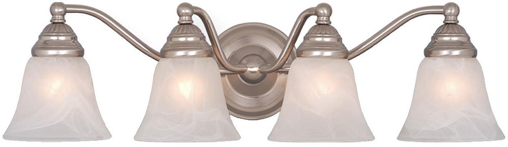Vaxcel VL35124BN Standford Brushed Nickel 4-Light Bathroom Light ...