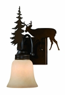 Vaxcel VL55401BBZ Bryce Country Burnished Bronze Finish 7.75 Wide Wall Sconce Lighting