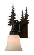 Vaxcel VL55501BBZ Yosemite Country Burnished Bronze Finish 7.75 Wide Wall Mounted Lamp