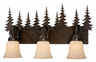 Vaxcel VL55503BBZ Yosemite Country Burnished Bronze Finish 7.75  Wide 3-Light Bathroom Sconce
