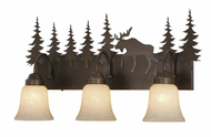 Vaxcel VL55603BBZ Yellowstone Country Burnished Bronze Finish 7.75  Wide 3-Light Vanity Lighting Fixture