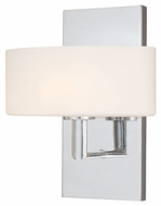 Vaxcel W0001 Allerton Contemporary Chrome Finish 10 Tall Halogen Lighting Sconce