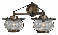 Vaxcel W0019 Jamestown Nautical Parisian Bronze 11  Tall Halogen 2-Light Bath Sconce